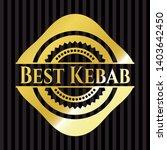 best kebab gold emblem. vector... | Shutterstock .eps vector #1403642450