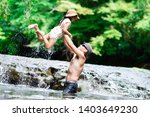 father and daughter playing in... | Shutterstock . vector #1403649230