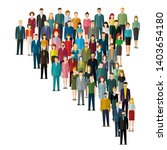 the crowd of abstract people... | Shutterstock .eps vector #1403654180