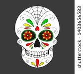 day of the dead colorful skull... | Shutterstock .eps vector #1403656583