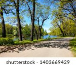 spring forest road river... | Shutterstock . vector #1403669429