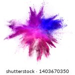 explosion of colored powder... | Shutterstock . vector #1403670350