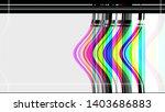 aesthetic old retro tv test...   Shutterstock . vector #1403686883