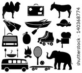 set of recreation icons. | Shutterstock .eps vector #140368774