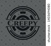 creepy realistic dark emblem.... | Shutterstock .eps vector #1403694080