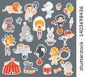 illustrations of funny circus... | Shutterstock .eps vector #1403698436