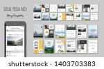 social media pack. set of... | Shutterstock .eps vector #1403703383