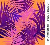 tropical botanical seamless...   Shutterstock .eps vector #1403710310