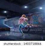 Female Hip Hop Dancer Beautiful - Fine Art prints