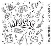 music vector illustration.... | Shutterstock .eps vector #1403730509
