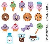 sweet desserts kawaii food... | Shutterstock .eps vector #1403731853