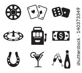 casino or gambling icons | Shutterstock .eps vector #140373349