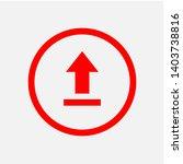 upload icon. uploading ... | Shutterstock .eps vector #1403738816