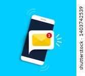 unread email notification. new... | Shutterstock .eps vector #1403742539
