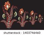 motif pattern mughal floral on... | Shutterstock .eps vector #1403746460
