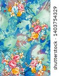 watercolor pattern abstract... | Shutterstock . vector #1403754329