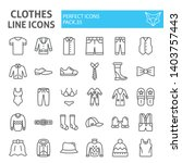 clothes line icon set  clothing ... | Shutterstock .eps vector #1403757443