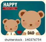 happy fathers day card   vector ... | Shutterstock .eps vector #140376754