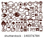 50  food and drink icon  ... | Shutterstock .eps vector #140376784