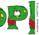 letter p with tongue sticking... | Shutterstock .eps vector #1403773613