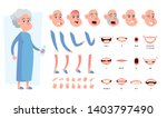 old  senior woman character... | Shutterstock . vector #1403797490