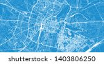 urban vector city map of poznan ... | Shutterstock .eps vector #1403806250