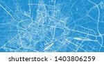 urban vector city map of lublin ... | Shutterstock .eps vector #1403806259
