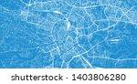 urban vector city map of krakow ... | Shutterstock .eps vector #1403806280