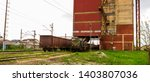 An Old Railway Locomotive With...