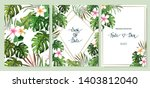floral set. wedding invitation  ... | Shutterstock .eps vector #1403812040