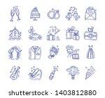 wedding elements line color...   Shutterstock .eps vector #1403812880