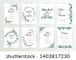 floral wedding invitation... | Shutterstock .eps vector #1403817230