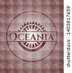 oceania red geometric emblem....   Shutterstock .eps vector #1403817659