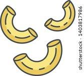 elbows pasta color icon.... | Shutterstock .eps vector #1403817986