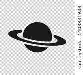 saturn icon in transparent... | Shutterstock .eps vector #1403831933