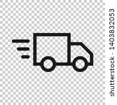 delivery truck sign icon in... | Shutterstock .eps vector #1403832053