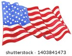 watercolor american flag... | Shutterstock . vector #1403841473