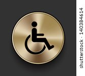 vector metal disabled icon  ...