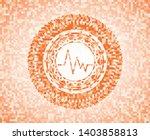 electrocardiogram icon inside... | Shutterstock .eps vector #1403858813
