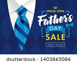 father's day sale promotion... | Shutterstock .eps vector #1403865086