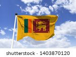 Flag Mockup Of Sri Lanka ...