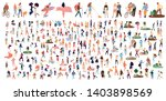 crowd of flat illustrated... | Shutterstock .eps vector #1403898569
