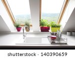 kitchen loft room | Shutterstock . vector #140390659
