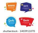 quote templet design minimalis... | Shutterstock .eps vector #1403911070