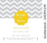 vintage card  for invitation or ... | Shutterstock .eps vector #140391190