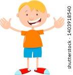 cartoon illustration of happy... | Shutterstock .eps vector #1403918540