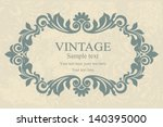 wedding invitation cards... | Shutterstock .eps vector #140395000