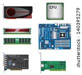 computer parts set | Shutterstock .eps vector #140395279