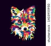 colorful fox illustration.... | Shutterstock .eps vector #1403955950