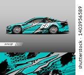race car decal wrap design... | Shutterstock .eps vector #1403956589